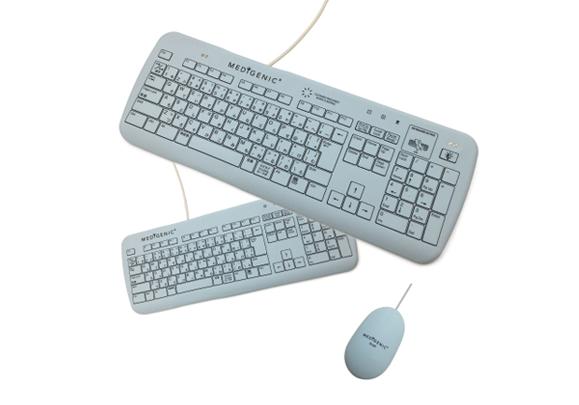 感染症対策用防水型キーボード・マウス 参考画像1